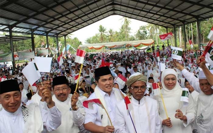 Khofifah dan Erick Thohir Optimis Jokowi Menang di Tapal Kuda