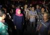 Khofifah Gerak Cepat Meninjau Kebakaran  Pasar Ngunut Tulungagung